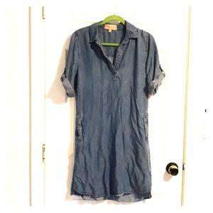 Chambray shift dress